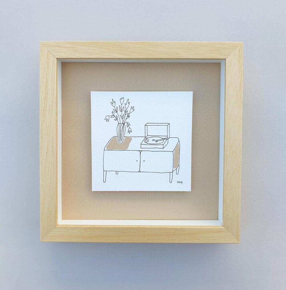 drawing in a box vinyl saturday