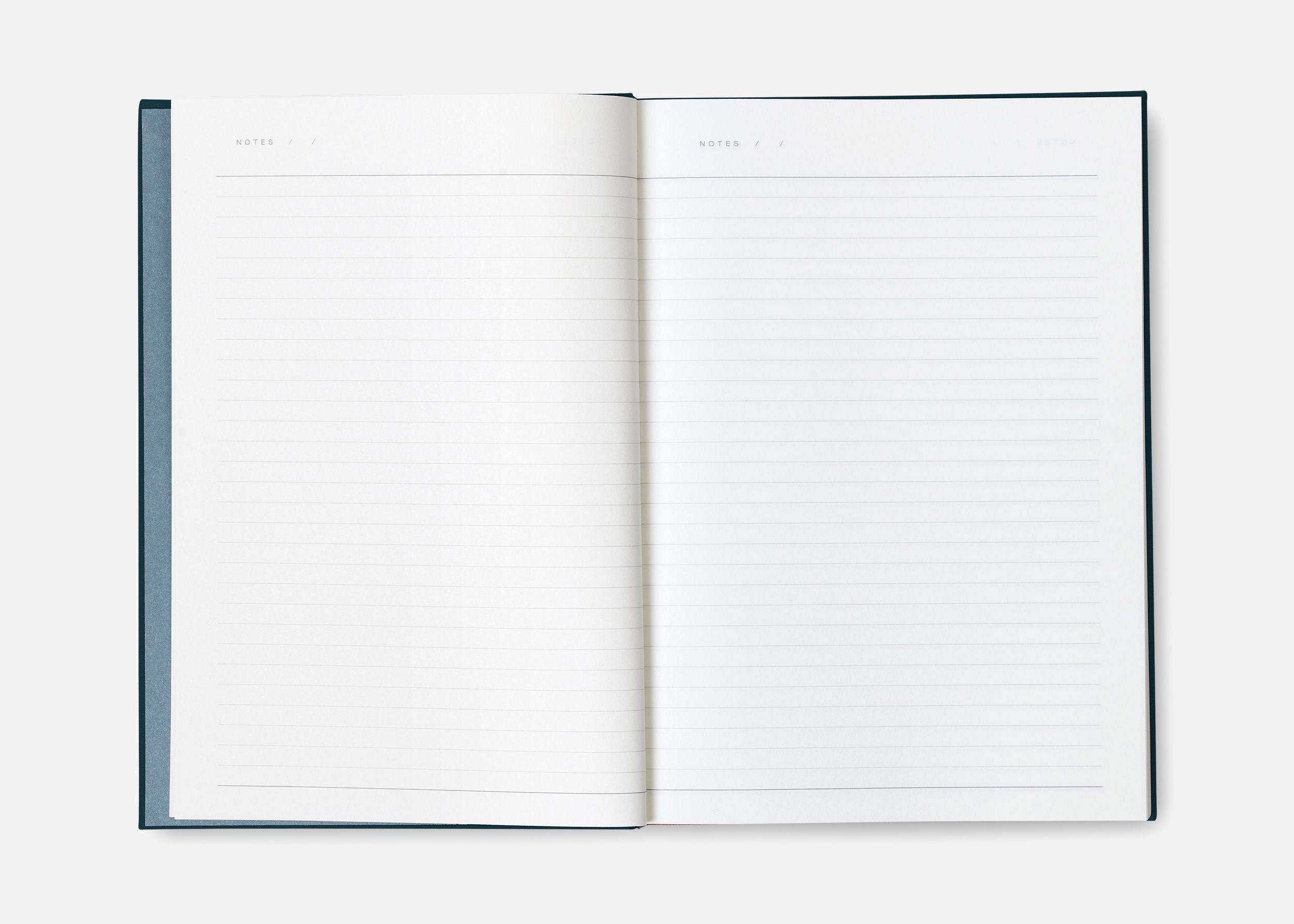 bea notebook dark blue interior