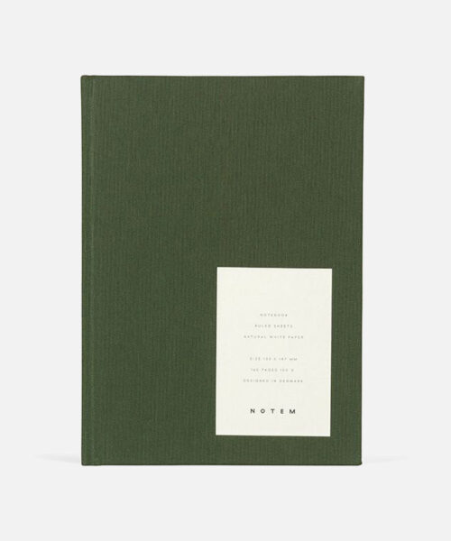 even forest green notebook