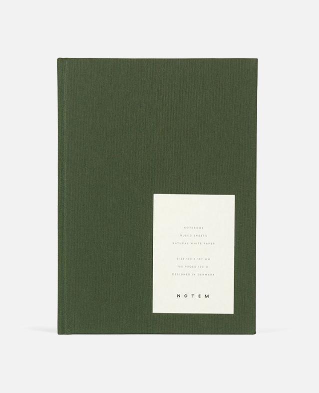 even forest green notebook