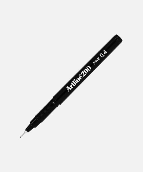 artline fineliner black