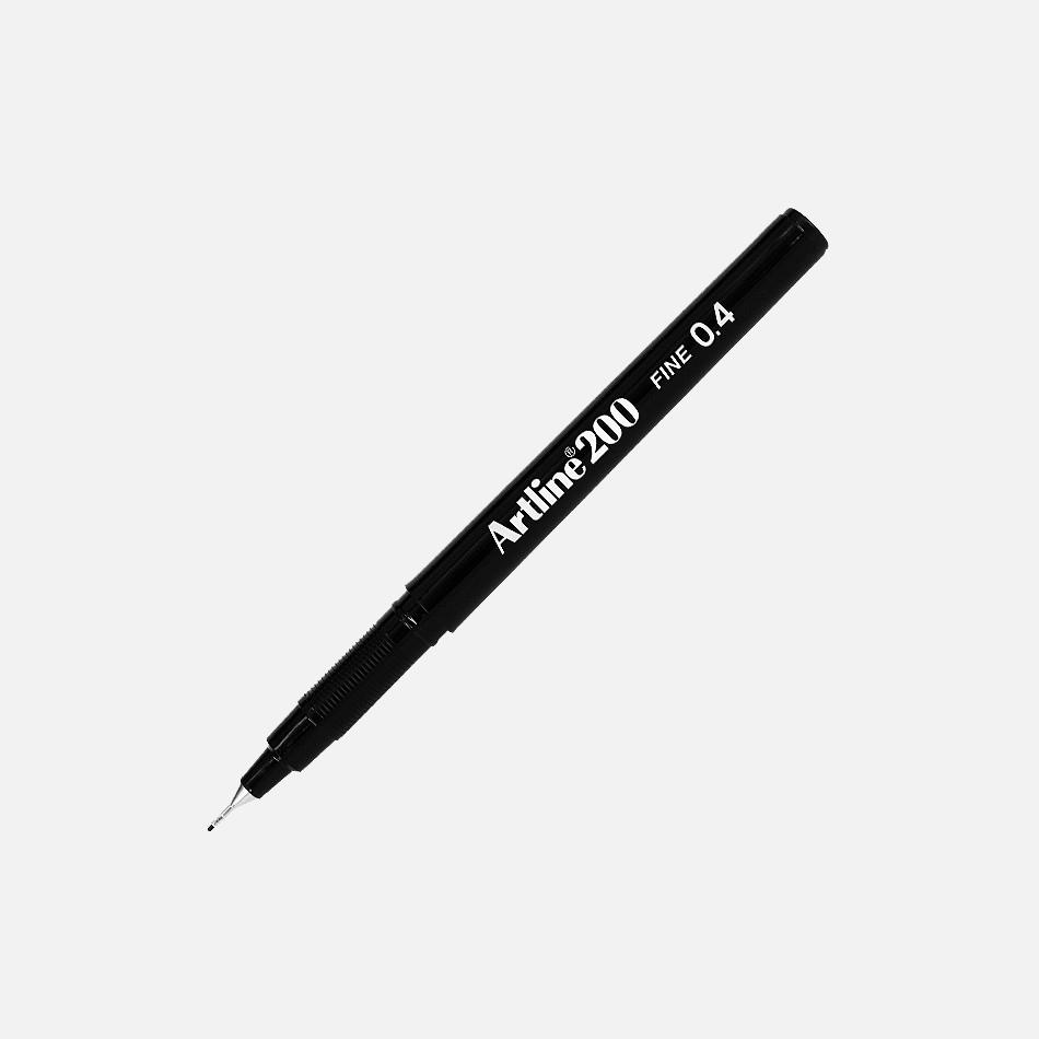artline fineliner black