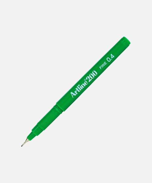 artline finerliner green