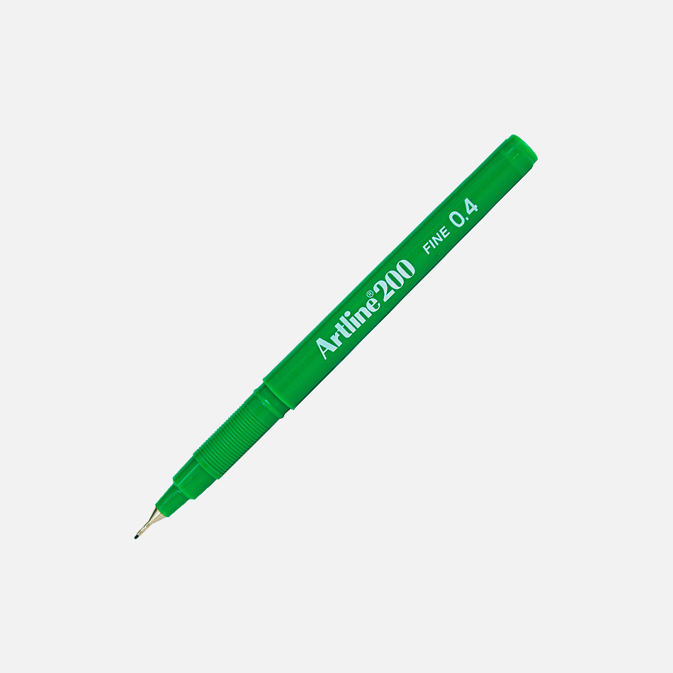 artline finerliner green