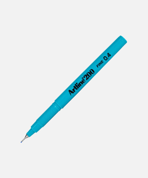 artline fineliner 200 light blue