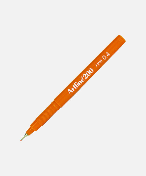 artline fineliner orange