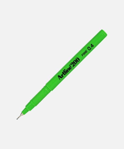 artline fineliner 200 lime green