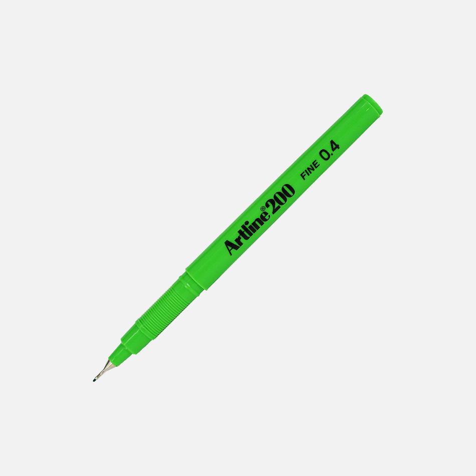 artline fineliner 200 lime green