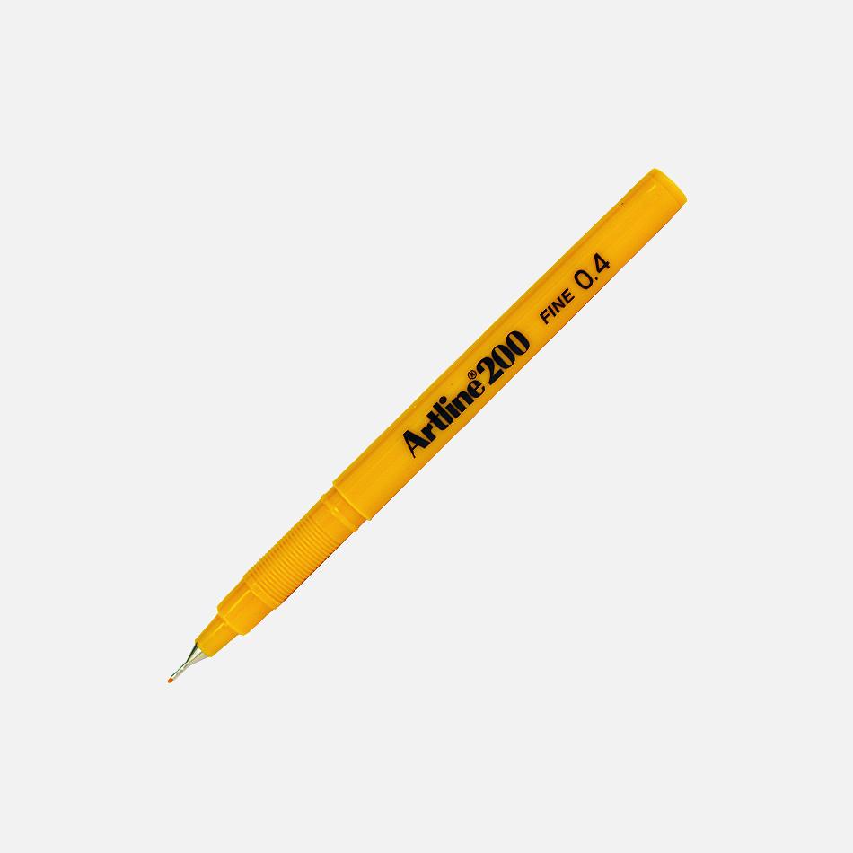 artline fineliner yellow